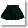 Pleats Tartan Skirt (Green Tartan-checked) (Fashion Doll)