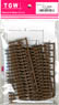(HO) Railroad Fence (Brown) (10 pieces) (Model Train)