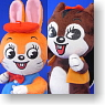 Stuffed Collection Kuppy Ramune Rabbit/Squirrel Set (PVC Figure)
