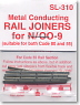 N/HO Narrow (OO-9/HO-e) Metal Conducting Rail Joiners for N/OO9 (24pcs.) (Model Train)