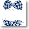 Ribbon Bikini (Navy Check) (Fashion Doll)