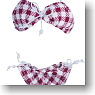 Ribbon Bikini (Purple Check) (Fashion Doll)