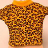 T-Shirt (Leopard-print pattern /Yellow) (Fashion Doll)
