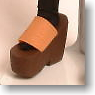Platform Sandal (Dark Brown + Camel) (Fashion Doll)