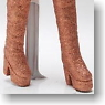 Platform Boots Thickness normality (Bronze Lame) (Fashion Doll)