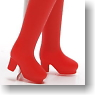 Long Boots Small (Red) (Fashion Doll)