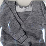 School`s Sweater (Gray) (Fashion Doll)