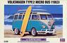 Volkswagen Type 2 Micro Bus (1963) w/Surfboard (Model Car)