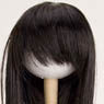 60cm Wig Straight Long L (Black) (Fashion Doll)