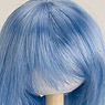 60cm Wig Straight Long L (Light Blue) (Fashion Doll)