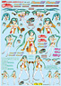 GSR Character Customize Series: Decals 017 - 1/24th Scale Racing Miku vol.2 (Anime Toy)