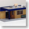 Post-house Flat Roof for B-Train Shorty (Unassembled Kit) (Model Train)