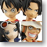 Half Age Characters One Piece 8 pieces (PVC Figure)