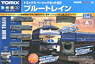 Basic Set SD Blue Train (Fine Track, Track Layout Pattern A) (Model Train)