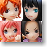 Half Age Characters One Piece Heroine 8 pieces (PVC Figure)