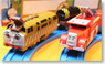 Fire-Engine Flynn & Diesel 10 Set (Movie `DAY OF THE DIESELS`) Model Train) (Plarail)