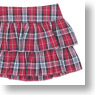 50cm Frill Tiered Skirt (Pink Check) (Fashion Doll)
