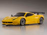 Miniz-Racer MR-03W-MM Body/Chassis Set Ferrari 458 GT2 Yellow Ver. (RC Model)
