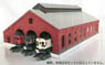 (N) 3-Line Brick Train depot Kit (for N-Gauge) (Pre-colored Kit) (Model Train)