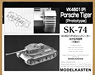 Crawler for SK-74 VK4501(P) Panzerjager Tiger Tank Prototype (Moveable) (Plastic model)