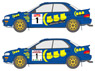 Three Five Impreza 1996 Australia / San Remo Decal Set (Decal)