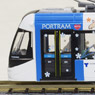 The Railway Collection Toyama Light Rail TLR0606 (Tetsudou Musume Wrapping, Pattern B) (Blue) (Model Train)