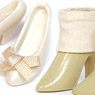High Heels (White) & Short Boots (Beige) (Fashion Doll)