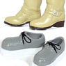 Engineer boots (beige) & rubber sole (gray) (Fashion Doll)