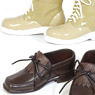 Tassel shoes (Brown) & short boots (beige) (Fashion Doll)
