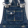 Snotty cat Denim Salopette Skirt (Indigo) (Fashion Doll)
