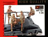 WWII Africa Corps Sd.kfz.263 Crew Set (4figures) (Plastic model)