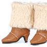 Fur boots (Camel) (Fashion Doll)