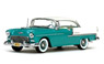1955 Chevrolet Bel Air Hard top (ivory/Legal turquoise)