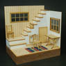 1/24 Living Room (A) w/Stairs (Craft Kit) (Accessory)