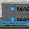Gunderson MAXI-I Double Stack Car MAERSK #100000 with MAERSK Containers (ダブルスタック/MAERSKコンテナ) (5両セット)