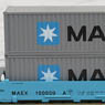 Gunderson MAXI-I Double Stack Car MAERSK #100059 with MAERSK Containers (ダブルスタック/MAERSKコンテナ) (5両セット)