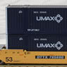 Gunderson MAXI-IV Double Stack Car TTX New Logo #745690 with UMAX Containers (3-Car Set) (Model Train)