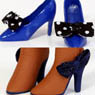 High Heels (Blue) & Boots (Brown) (Fashion Doll)