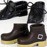 Tassel shoes (Black) & Short Boots (Brown) (Fashion Doll)