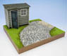 1/24 Garden C w/Cobblestone Streets and Hut (Craft Kit) (Accessory)