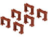 Eco Block Piers (Brown, 6pcs.) (Plarail)