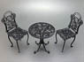1/12 Iron table & Chair (Rose Design) (Craft Kit) (Fashion Doll)