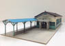1/80 Japanese Famous Train Station Series Ueda Kotsu Bessho-onsen Station Building Paper Kit (Pre-colored Kit) (Model Train)