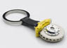 Brake disc key chain (6-POT/Yellow Caliper)