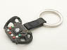 Formula steering wheel key chain