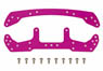Duralumin Wide Stay F/R (Pink) (Mini 4WD)