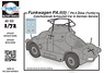 Funkwagen PA.II(t) / PA.II Zelva (Turtle) Czechoslovak Armoured Car in German Service (Full Resin Kit) (Plastic model)