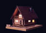 Akari Series No.2 Forest Log House (Plastic model)