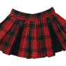 PNS Punk Pleats Skirt (Red Check x Black) (Fashion Doll)