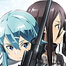 Sword Art Online II Bathroom Poster Kirito & Sinon (Anime Toy)
